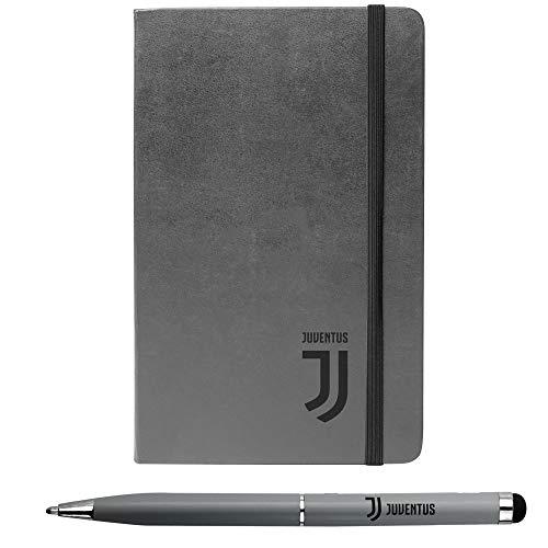 Juventus Kit Agendina e Penna 2in1 - Collezione Travel - 100% Originale - 100% Prodotto Ufficiale - Colore Grigio