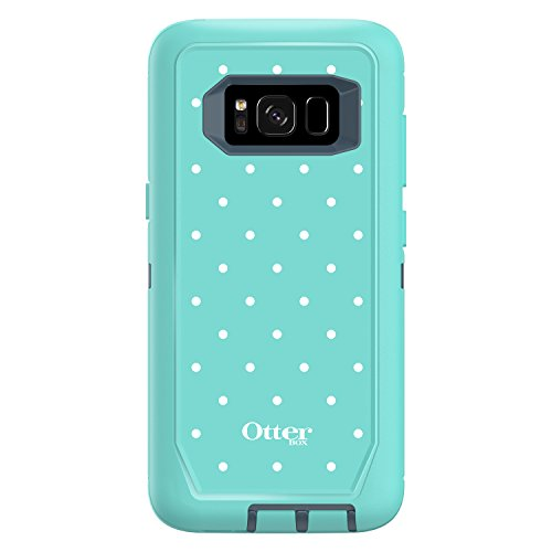 Otterbox Defender Series Screenless Edition for Samsung Galaxy s8 - Retail Packaging - Mint Dot (Tempest Blue/Aqua Mint/Mint Dot)