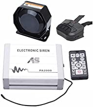 AS Car Siren Kit PA2000E2-SPK0021 4-Piece Pack 100W with Siren Box Speaker Dual Remotes Fit for Police, Ambulance, Fire, Traffic and Engineering Vehicles