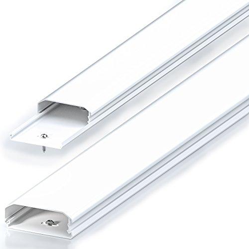 deleyCON Canaleta Universal para Colocar Cables y Líneas PVC de Primera Longitud...
