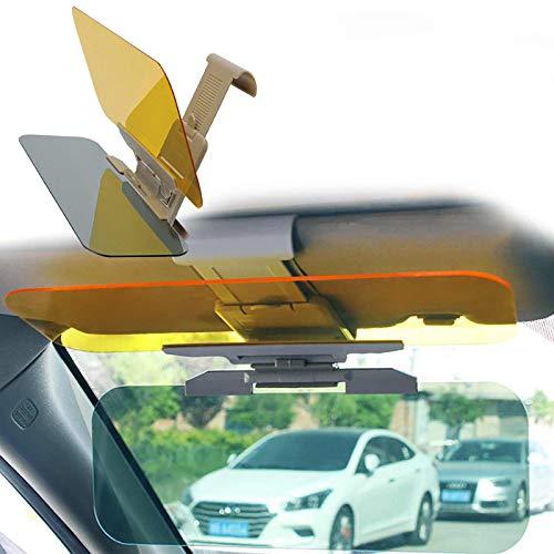 Gpure Visera Coche 2 en 1 Anti-Glare 32x12cm Parasol Ajustable Reductor Rayos Sol para Protección del Asiento Delantero y Trasero Extensor Interruptor de Una Mano de Parasol