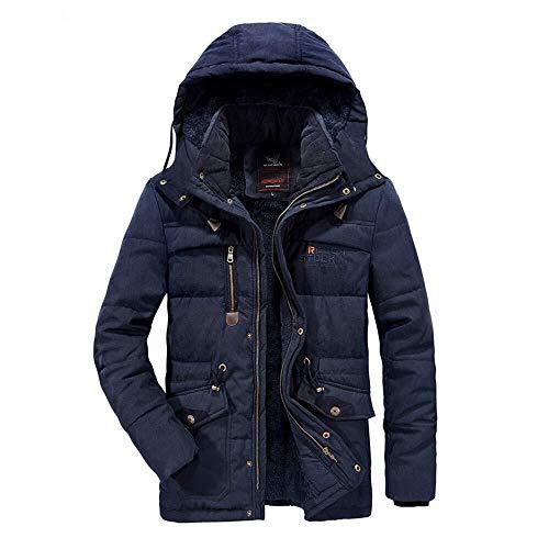 HESHI Skijacke Winter Baumwolljacke Plus Samt Dicken Langen Trenchcoat Warmer Mantel Lässig Mantel Vintage-Mantel Geeignet Zum Wandern, Reiten, Camping Ideale Skikleidung im Winter