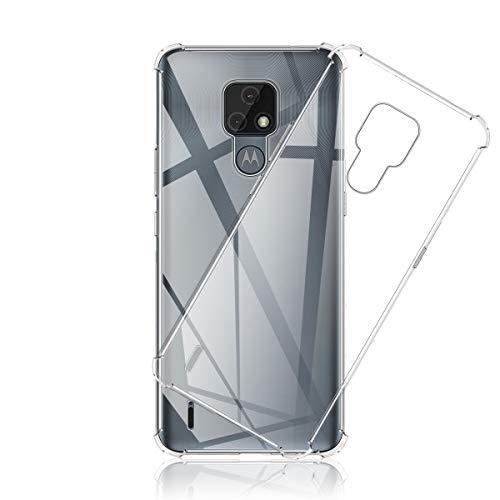 Aerku Hülle für Motorola Moto E7, [Kratzfest] [Anti-Fall] [Stoßdämpfung] Ultra-dünne TPU Silikon Gel-Abdeckung Transparent Hülle Handyhülle für Motorola Moto E7[Transparent]