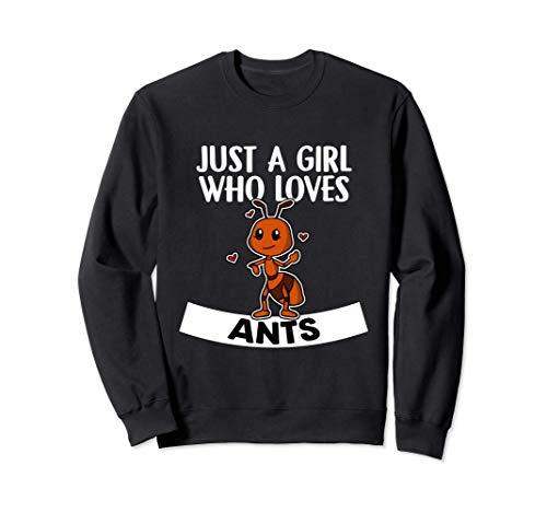 Just A Girl Who Loves Ants Lindo Disfraz De Hormiga Sudadera