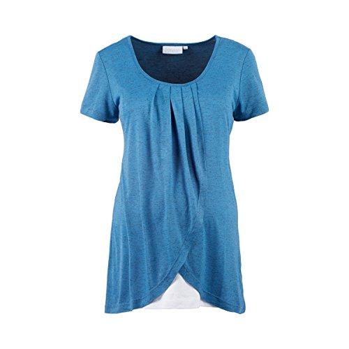 2HEARTS Le T-Shirt de Grossesse et d'allaitement 2 en 1 T-Shirt de Grossesse T-Shirt de Grossesse, Terminate Blue