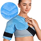 REVIX Shoulder Ice Pack for Injuries Reusable Gel Ice Wrap for Shoulder Pain Relief, Bursitis and Rotator Cuff, Cold Therapy Compression for Man and Women