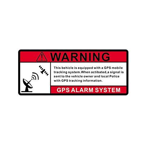 Wandtattoos Wandbilderwarnung Gps-Alarmanlage Warnschild Fensterdekoration Reflektierende Auto Aufkleber Zubehör Aufkleber 14Cm X 5.9Cm