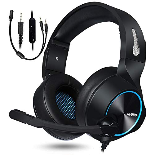 NUBWO Gaming Headset for Xbox One PS4 PC Gaming and Nintendo Switch,Stereo Surround Noise Cancelling Over Ear Gaming Headphones with Mic Volume Control for Xbox 1 S Playstation 4 Laptop,PC,Mac,iPad…