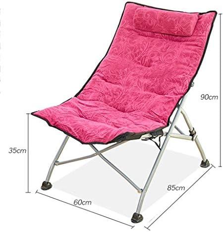 KFXL fauteuil inclinable Chaise Pliante, Adaptée pour Balcon Chaise Longue Sieste, Chaise Longue Maison Chaise Longue Bureau Chaises de camping (Size : 5)
