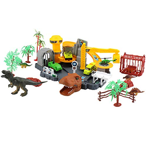 AutumnFall Mini Tyrannosaurus Research Institute, Dinosaur Institute DIY Assemble Dinosaur Home Toy Set Perfect Party Supplies, Kids Play & Learn