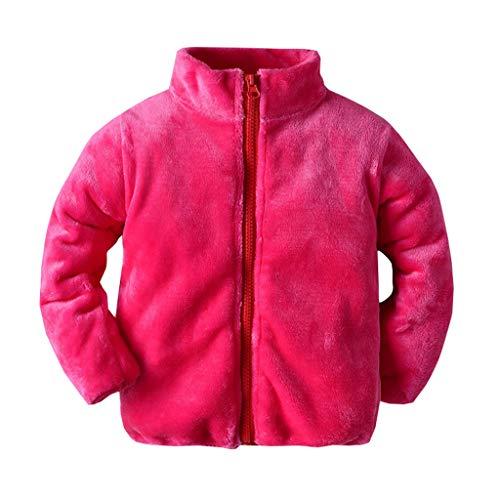 Kobay-Baby Kleinkind Baby Mädchen Langarm Winter Feste Winddichte Mantel Warme Jacke Jacke Kind Langarm Plüsch Einfarbig Baumwolle Warme Mantel (3 Mt-3 T)
