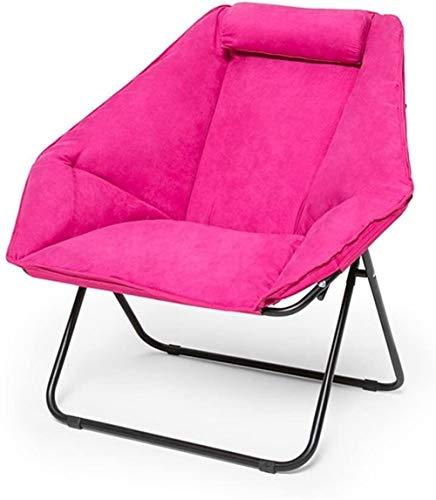 DONG Silla Plegable Silla Perezosa del sofá Silla del Ocio Sola Silla reclinable Gamuza Beach Almuerzo Presidente de la Siesta Rotura (Color : B)