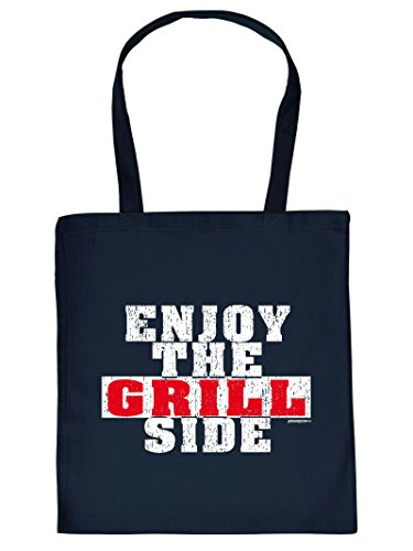 Kreative Grill-Stoff-Tragetasche mit Motiv: Enjoy the Grill Side
