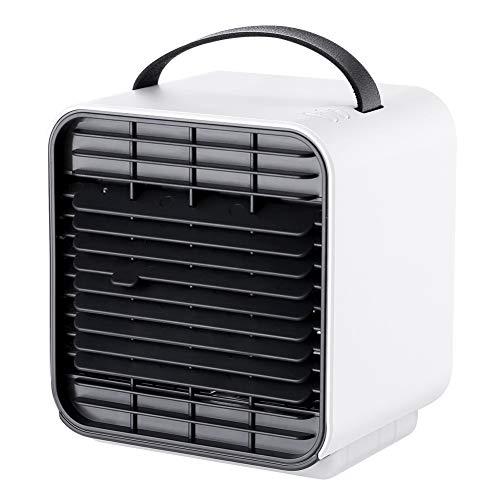 Lefran Tragbare KÜhler Ventilator 3 In 1 Mini Luftkühler Air Cooler, USB Luftkühler 3 Leistungsstufen Klimagerät Klima Tragbar Luftbefeuchterreinigung Haushalt Büro-weiß