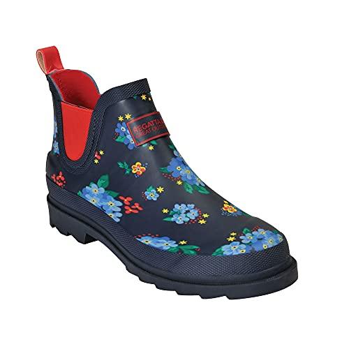 Regatta Women's Lady Harper Welly Rain Boot, Navy/RebelRd, 6 UK