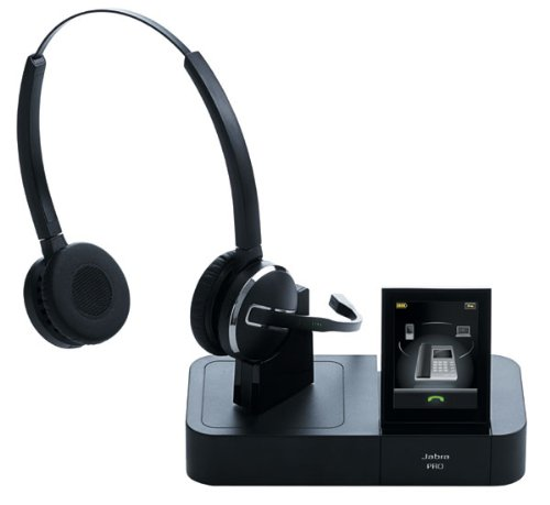 Jabra Pro 9460 Duo Binaural Kopfband Schwarz - Headsets (Call Center/Büro, 10-40 °C, 0-60 °C, Binaural, Kopfband, Schwarz)