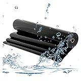 RT-OSXE Flexible Wasserdichte Teichfolien, Reißfest Fisch Teiche Liner, Faltbar Undurchlässig Membran für Draussen Garten Wasserfall, Anpassbar (Color : Black (0.5mm), Size : 5mx6m)