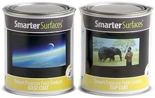 Pintura Proyector Smart Contraste - 6m² - Acabado Gris Oscuro - para proyectar películas, Videojuegos, Home Cinema - Valor de Ganancia 0.1 - Ángulo de 120 Grados - para proyectores HD y Normales