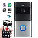 GW Videoportero 720P walkie-Talkie WiFi cámara de Seguridad inalámbrica inalámbrica y Unidad Interior, Llamada de Voz bidireccional, Control Remoto móvil de la aplicación (Plateado)