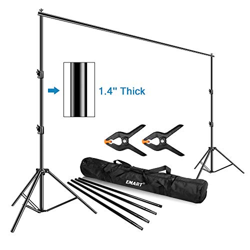 Emart Photo Video Studio Backdrop Stand, 10 x 12ft Heavy Duty Adjustable Photography...