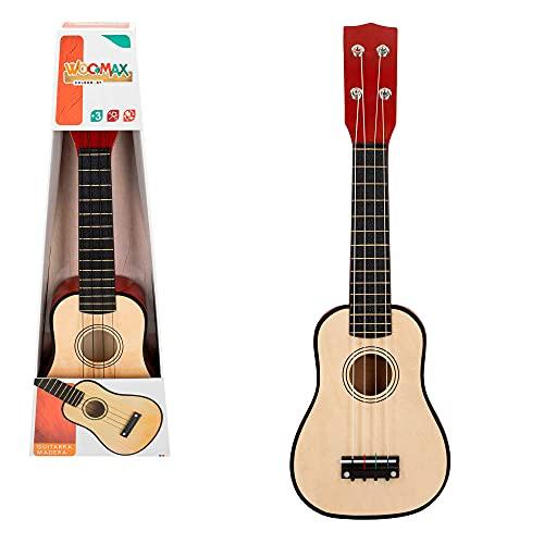 WOOMAX - Guitarra de madera (ColorBaby 42142)