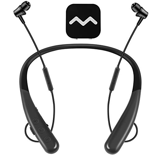 Vivtone Rechargeable Hearing Aid Headphone, Neckband Pocket Talker for TV Watching & Conversation Enhancing, Updated Wireless Hearing Amplifier, Clarity10