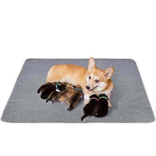 Yangbaga Empapadores Perros, Pañales de Perro Lavable y Reutilizables Empapadores de Entrenamiento para Perros , Antideslizante (120*120cm)