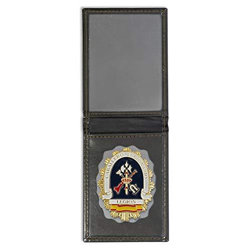 Cartera + Placa Legion - Caballero Legionario | Cartera de Polipiel identificativa con Chapa/Insignia para decoración, coleccionismo y atrezzo