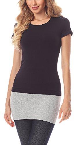 Merry Style Damen Verlängerungsgurt für Hemden T-Shirts MS10-202 (Melange, M)