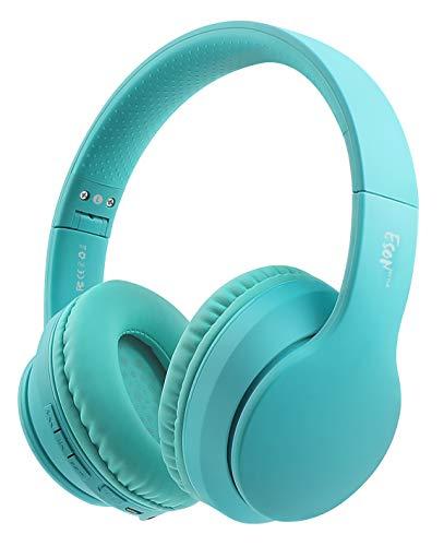 Auriculares Bluetooth sobre la oreja, Bluetooth y auriculares estéreo con cable, con micrófono, orejeras suaves y peso ligero para...