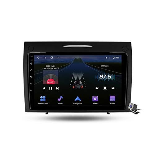 Android 9.1 Autoradio Stereo GPS Navigatore 2 Din con 9' Schermo, per Benz SLK-Class R171 2004-2011 BT Vivavoce Microfono Integrato Supporto FM AM RDS Controllo del volante,4 core,4G+WiFi: 1+16GB