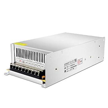 LETOUR LED Power Supply 24V 20A 480W AC 96V-240V Converter Adapter DC S-480W-24 Power Supply for LED Lighting,LED Strip,CCTV  24V 20A 480W