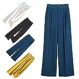 Woman's Casual Full-Length Loose Pants, Women's Wide Leg Lounge Pants, Yoga Pants High Waist Loose Workout Sweatpants (Blue,L)