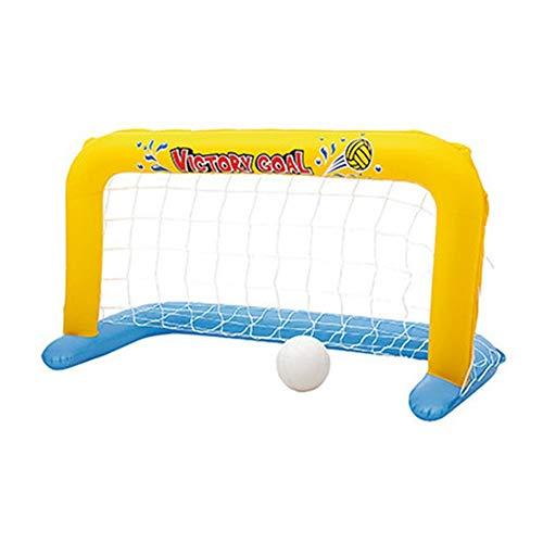 SANGDA Aufblasbares Wasser-Handball-Tor – Kinder Eltern-Kind Pool Volleyball – Schwimmbad aufblasbares Tornetz Schwimmen Insel Wasser Strand Spielzeug Party Spielzeug