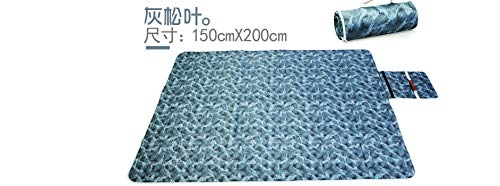 WDXPYA Picnic Blanket,Ultraschall Maschinenwäsche Esche Blatt- Picknick Feuchtigkeit Feuchtigkeit Pad Pad Super Dick 190T Polyester Taffeta Wasserfest Matcamping Outdoor Zelt Teppich