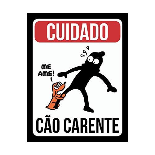 Placa Decorativa Cão Carente Legião Nerd Multicor Pacote de 1
