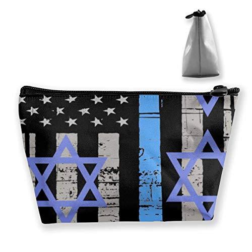 Sac de Poche cosmétique de Voyage Multifonction - juif U Organisateur de Maquillage trapézoïdal Trousse de Toilette Sac à Main