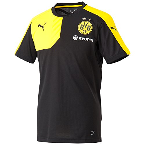 PUMA Herren Trikot BVB Training Jersey with Sponsor Shirt, Black-Cyber Yellow, S