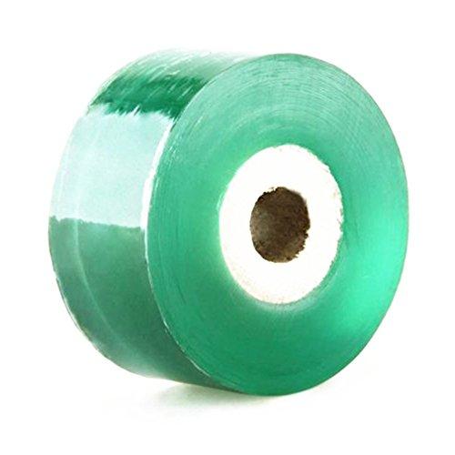 Hilitand Pfropfband Pfropfen-Klebeband-freier Raum für Pflanzen, PVC-Frucht-Baum-Garten-Pfropfen-Band, grünes PVC dehnbar (1Pcs 3cm x 100M)