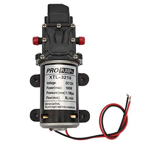 12V 100W Bomba de agua de alta presión con diafragma eléctrico de...
