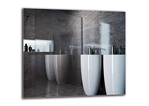 Espejo Standard - Espejo sin Marco - Dimensiones del Espejo 80x70 cm - Espejo de baño - Espejo de Pared - Baño - Sala de...