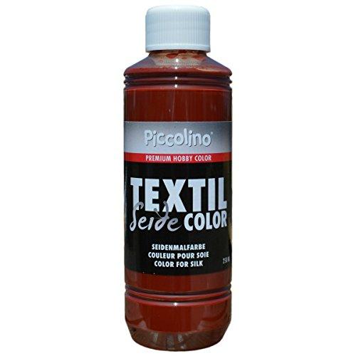 Seidenmalfarbe Cognac 250ml - Seidenfarbe Piccolino Textil Color - Textilfarbe Seide
