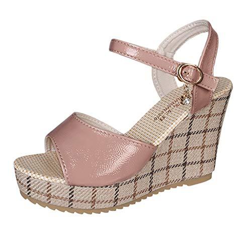 VJGOAL dames sandalen met hak zomer wigsandaletten dikke spons cakegesp hoge hakken Romeinse schoenen