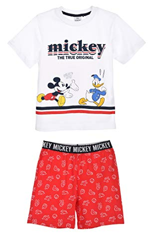 Mickey Mouse Jungen Kurz Pyjama Schlafanzug