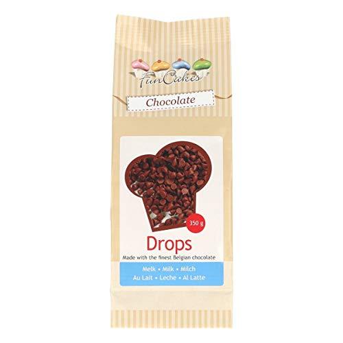 FunCakes Chocolade Drops Melk, Heerlijke Bakvaste Chocolade om Toe te Voegen aan Taarten, Cupcakes, Muffins of Koekjes…