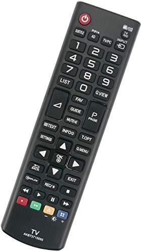ALLIMITY AKB73715686 Control Remoto reemplazado por LG LED LCD TV 19MN43D 22MA33D 22MT44D 22MT45D 22MT47D 23MT55D 24MN43D 24MT47D 24MT55V 26MA33D 28MT47T 29MT45 32LY330C 39LN540V 40UF671V