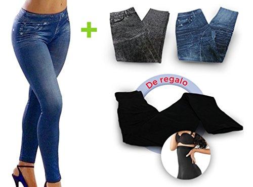 Jeggings 360 - la Prenda Que estiliza tu Cuerpo más Elegante, cómoda y Sexy Que jamás se Haya Hecho. Talla S/M. Pack 4 Unidades / 4 Modelos Distintos