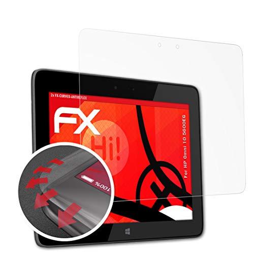 atFolix Schutzfolie kompatibel mit HP Omni 10 5600EG Folie, entspiegelnde & Flexible FX Bildschirmschutzfolie (2X)