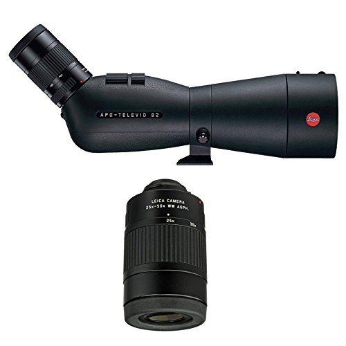 Leica APO-Televid 82mm Angled Spotting Scope with Televid 25-50X Eyepiece