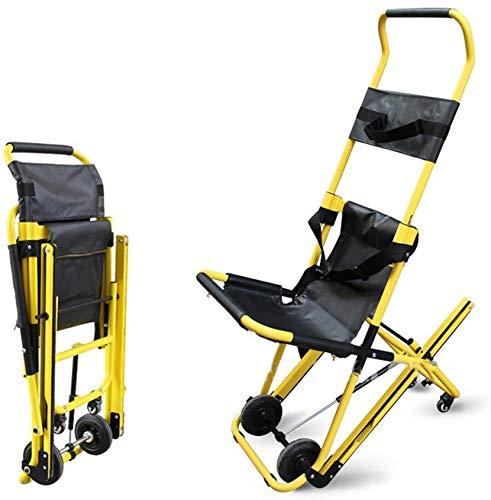 GLJY Treppenstuhl Treppen-Evakuierungsstuhl, Klappbarer Krankenwagen-Stuhl Feuerwehrmann-Evakuierungslift mit Rückhaltegurten für Patienten, Gewichtskapazität 350 lb.